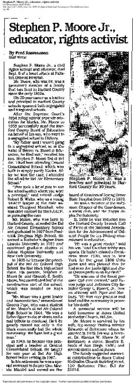 Stephen P. Moore, Jr. obituary